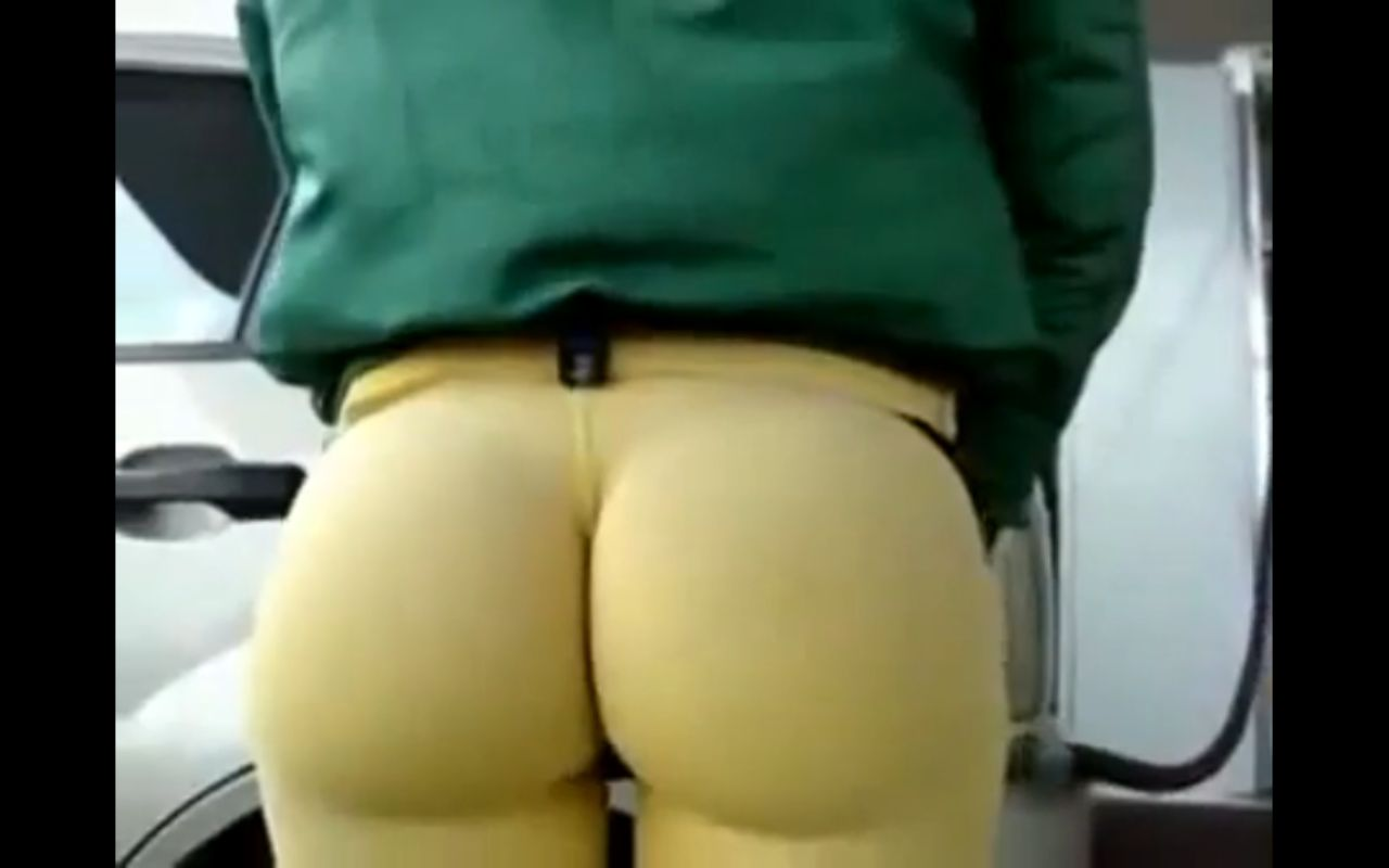 Yellow yoga pants are amazing.