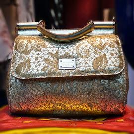 Dolce & Gabbana Lace Print Sicily Bag
