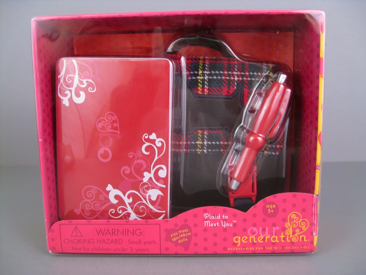 Our Generation Quot Plaid To Meet You Quot Accessory Set The Toy