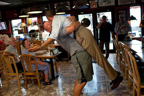 President Obama's moment in a pub