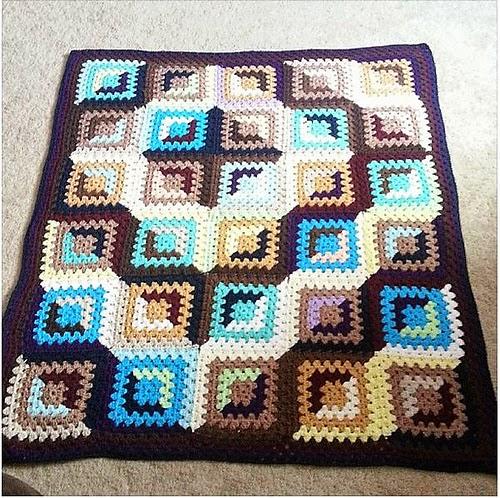 Good and Evil Granny Crochet Block