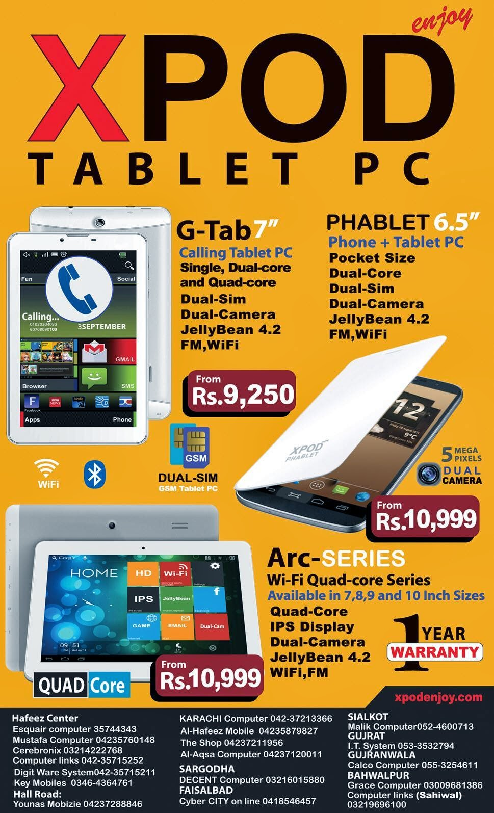 Xpod Tablet PC Pakistan