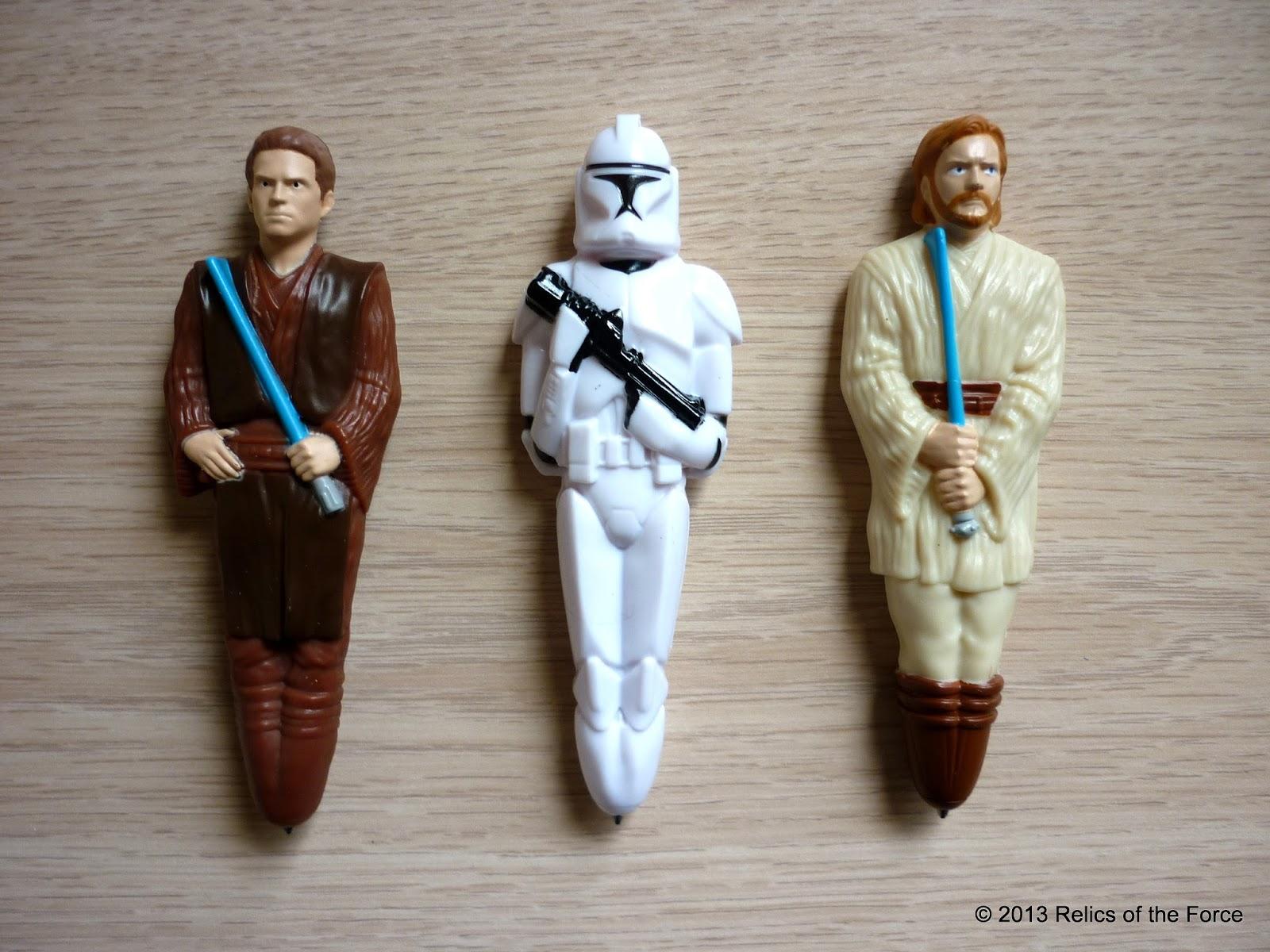 Relics Of The Force General Mills Cereal Star Wars Pens Anakin Skywalker Clone Trooper And Obi Wan Kenobi