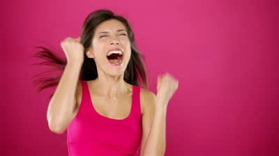 very uncloth exited woman