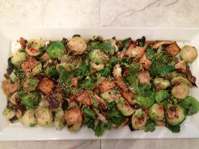 Sweet And Spicy Brussels Sprouts With Tofu And Shiitake Mushrooms ...