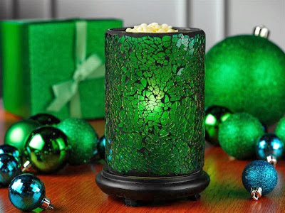 Green Crackle Shade Simmering lights image