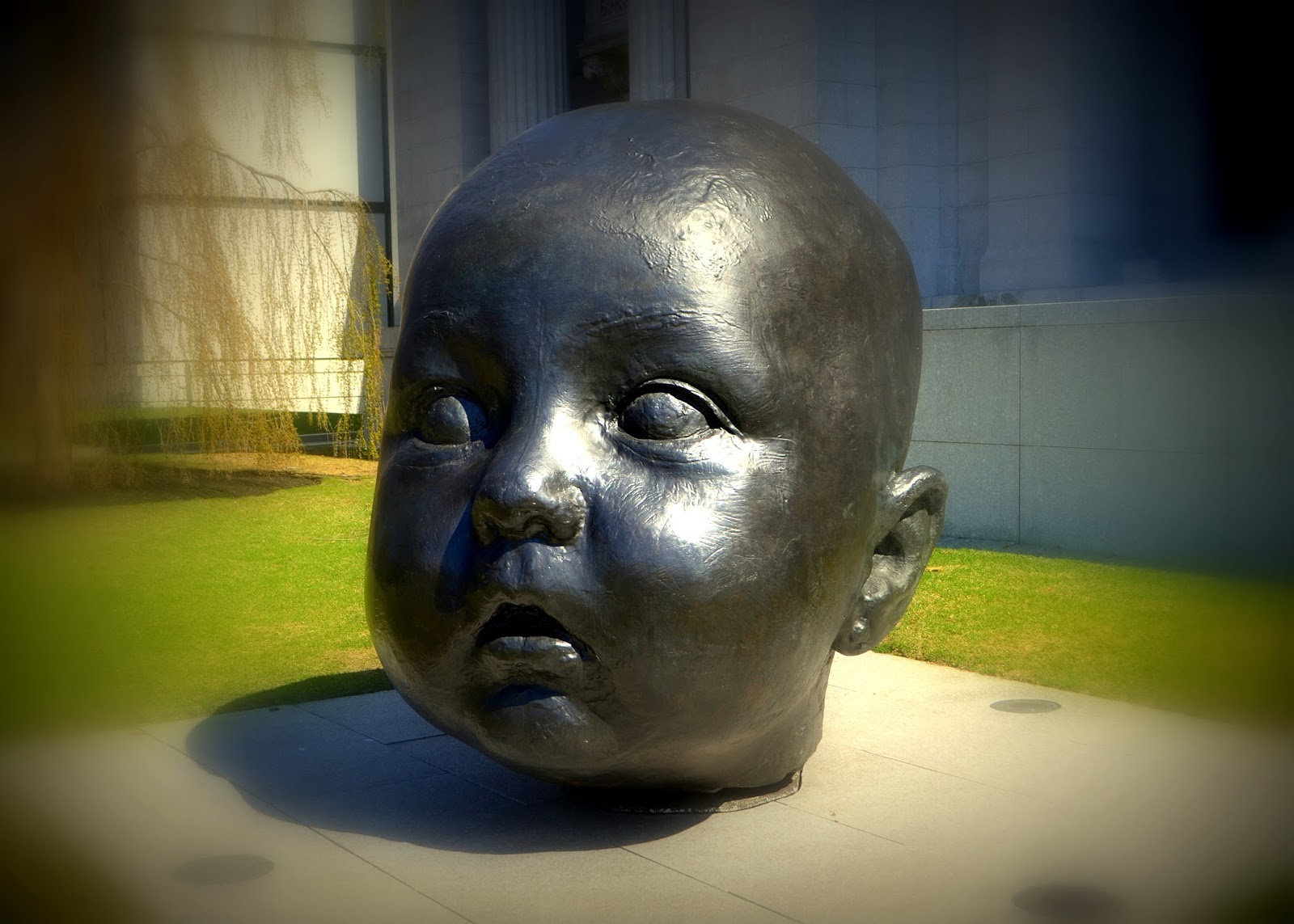baby, head, bronze, mfa, museum of fine arts, boston, massachusetts