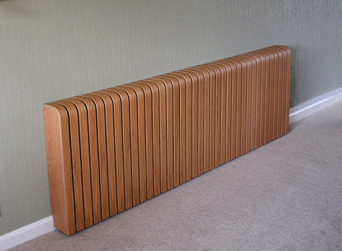 Long oak radiator cover