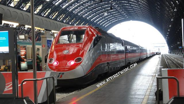 Trenitalia train from Milan to Venice