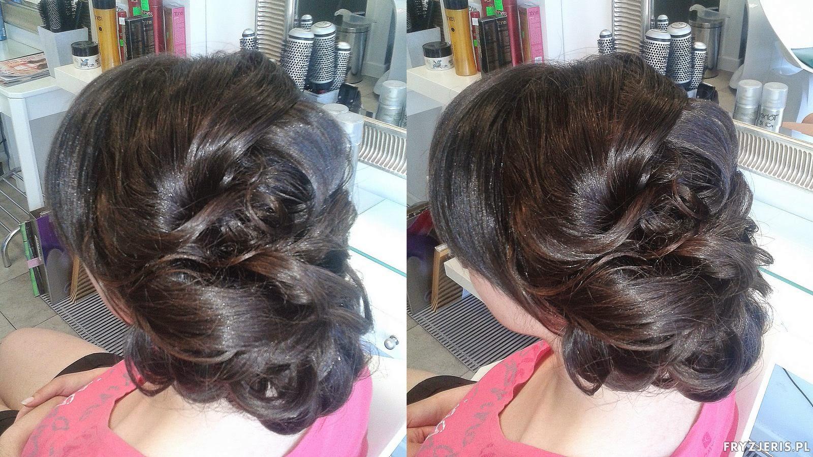 fryzura na grubych włosach