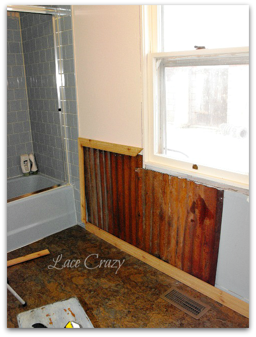 Metal Sheeting For Walls lace crazy: old house bathroom remodel~