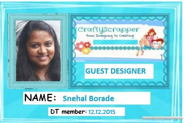 Guest Designer at Craftyscrappers (dec'15 - jan'16 )