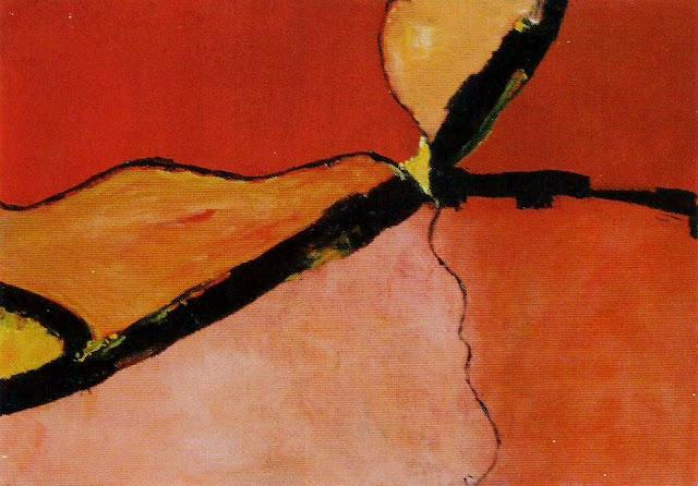 Cuadro titulado entre dos alternativas, en rojos, naranjas y negro.