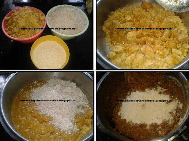 Dry coconut burfi