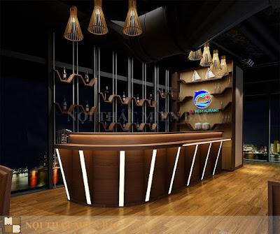 Thiết kế nội thất nhà hàng Nhật Bản cao cấp, sang trọng1