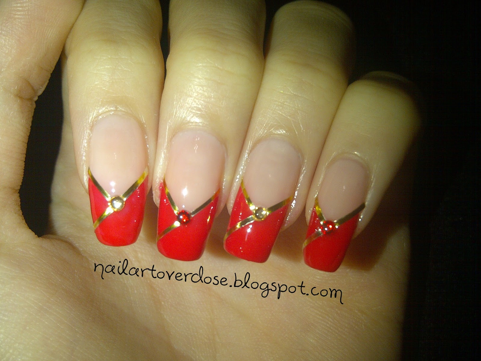 Chinese nail art designs home galeries lunar chinese new year nail prinsesfo Choice Image
