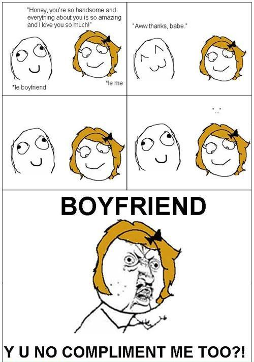 View Full Size | More more funny meme rage comics boyfriend y u no ...