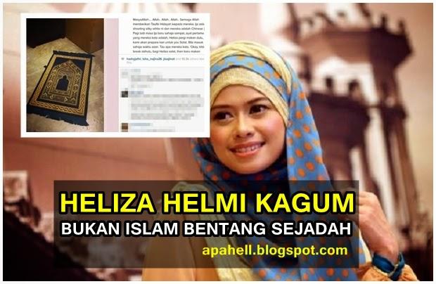 Staff Non Muslim Bentang Sejadah Untuk Heliza Helmi 2 Gambar