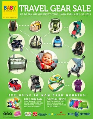 Manila shopper baby company travel gear sale april 2015 for Travel gear for toddlers