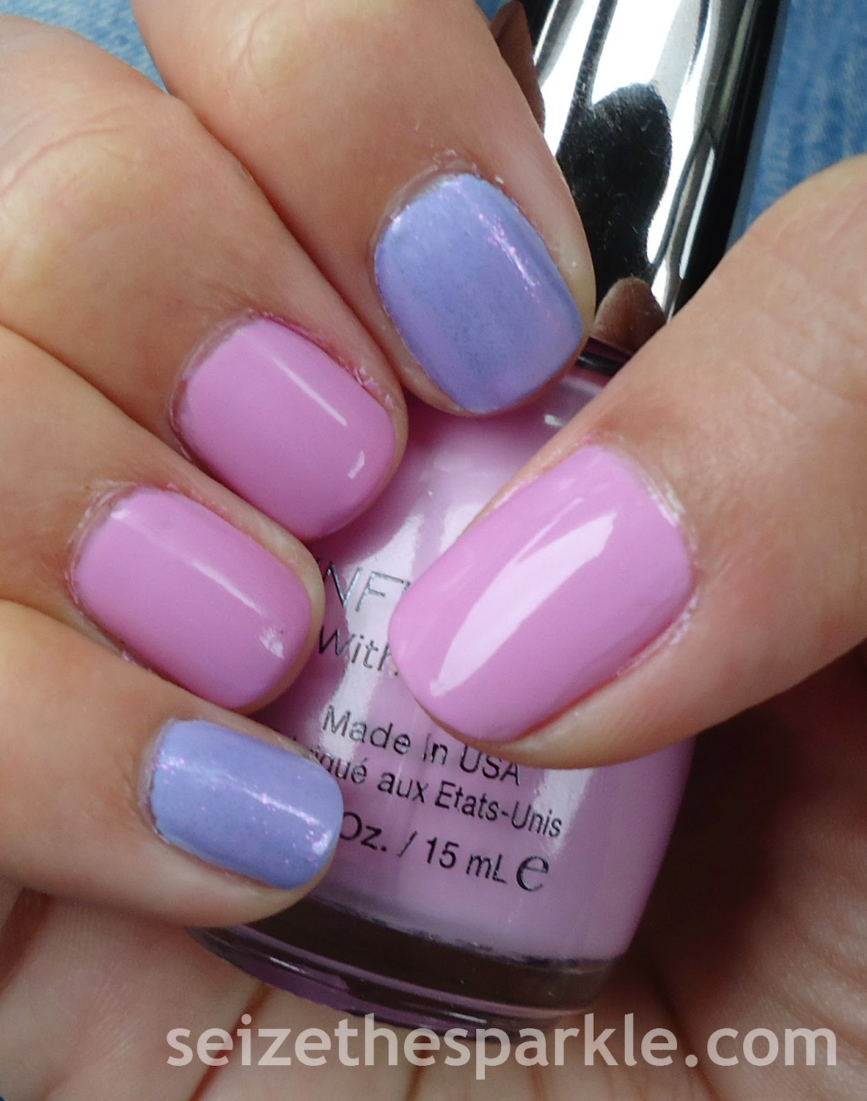 Radiant Orchid Accent Manicure