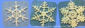 Коллекция схем снежинок