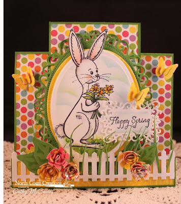 Stamps North Coast Creations Bouquet Bunny- Designer Cathy McCauley