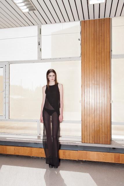 Silk front dress