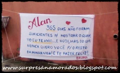 Faixas E Banners Surpresas Para Namorados