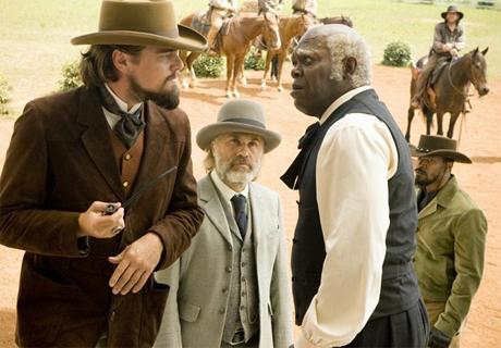 Di Caprio, L. JAckson, Fox y Waltz, el reparto pricincipal de Django Desencadenado casi al completo