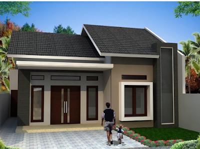 gambar rumah satu lantai minimalis type 45
