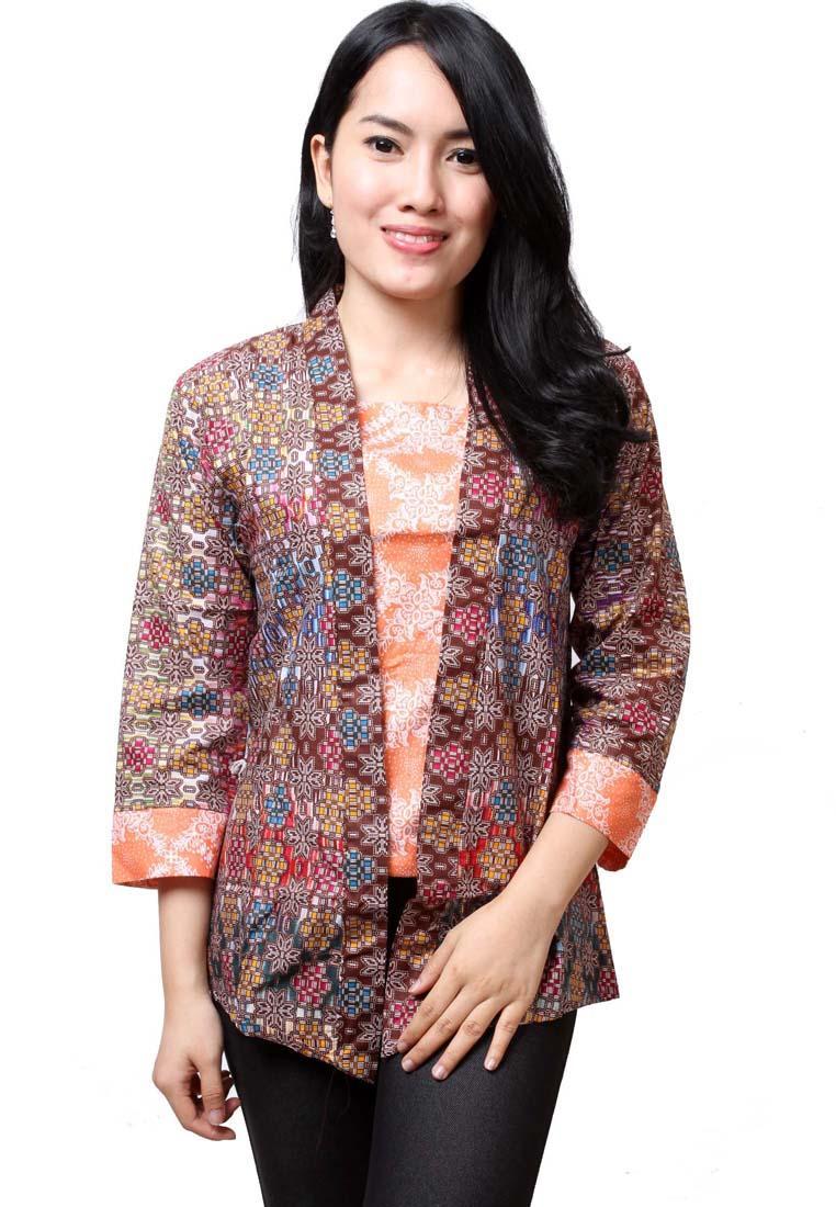 Model Baju Batik Kantor Model Baju Batik Kantor Wanita Terbaru 2016
