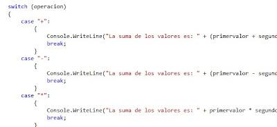 Switch en C#