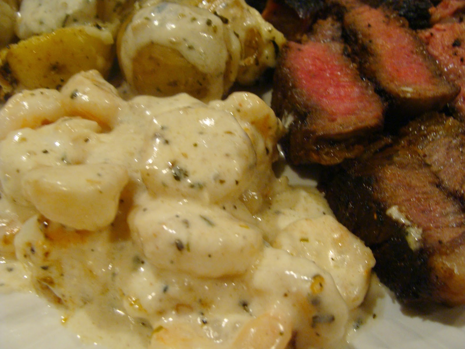 Steak and Shrimp Scampi