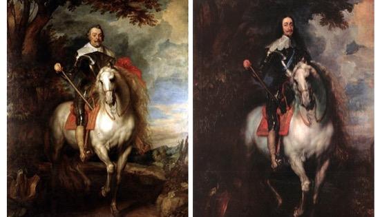 Retratos ecuestres hechos por Van Dyck