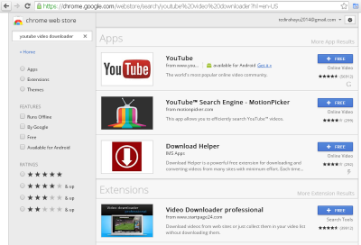 Ekstentions Youtube Video Downloader untuk Google Chrome