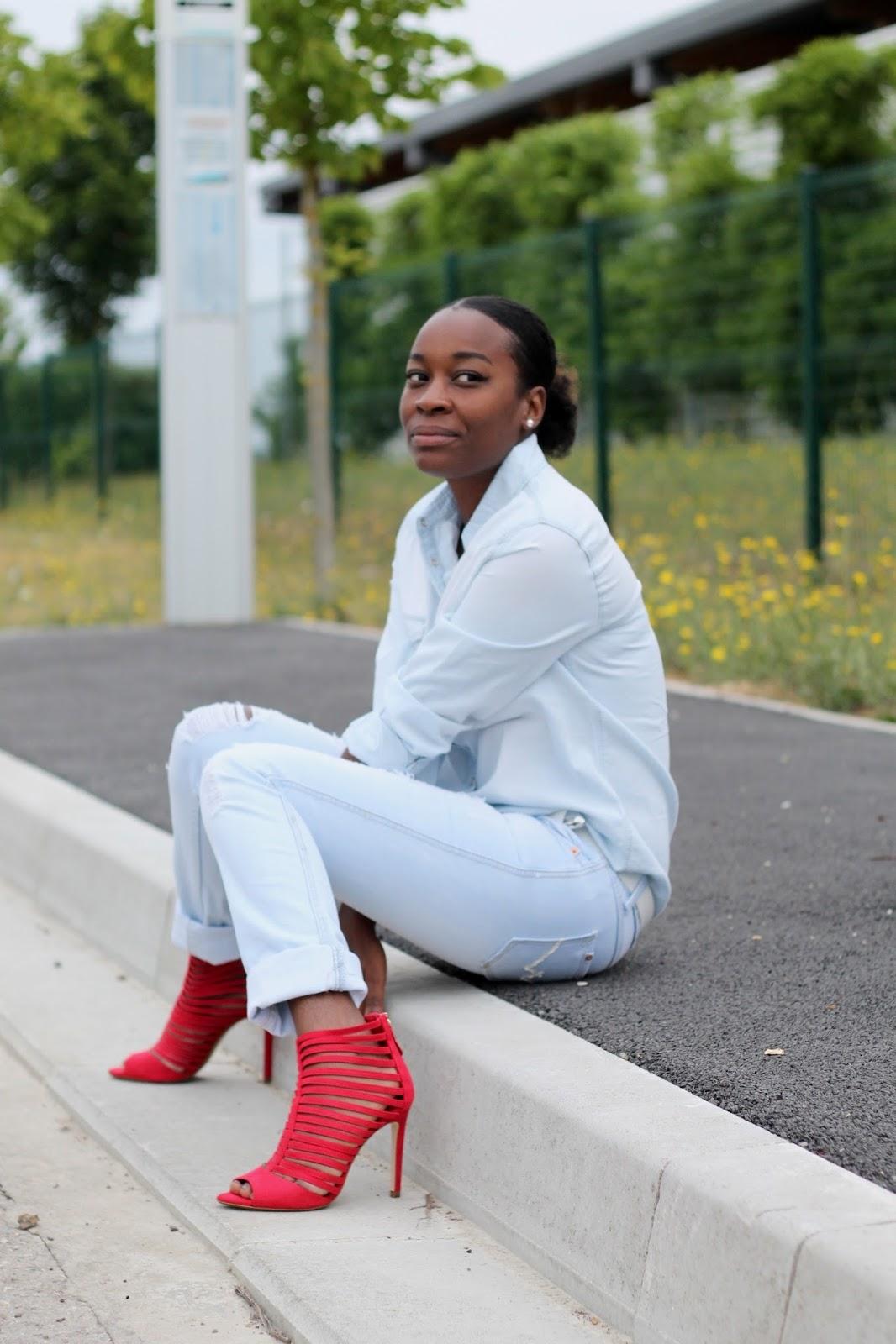 blog mode- tenue en jeans- tenue décontractée- bloggeuse