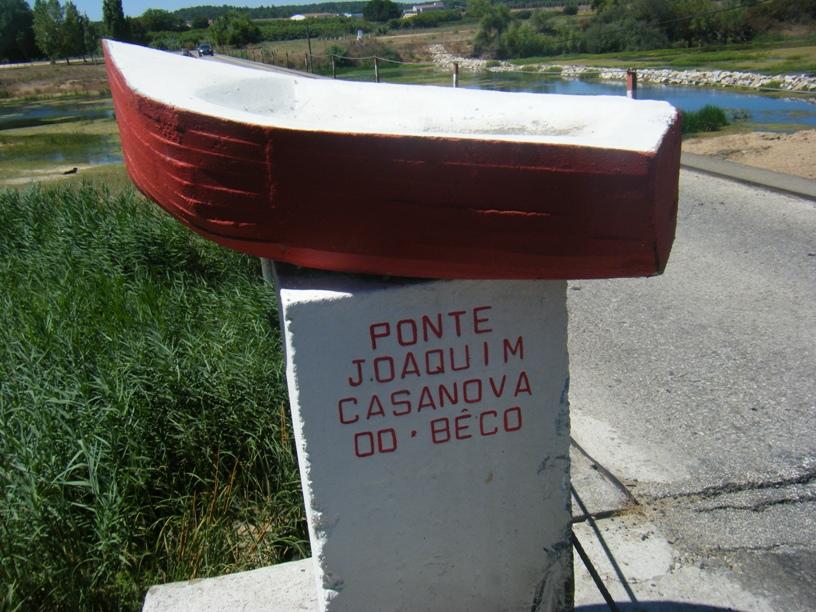 Ponte Joaquim Casanova do Bêco - placa direita