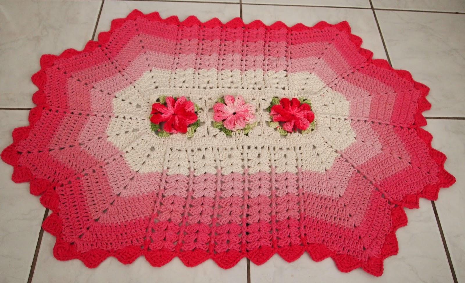 Os croches da elsa tapetes degrade em tons de rosa e amarelo for Rosa tapete