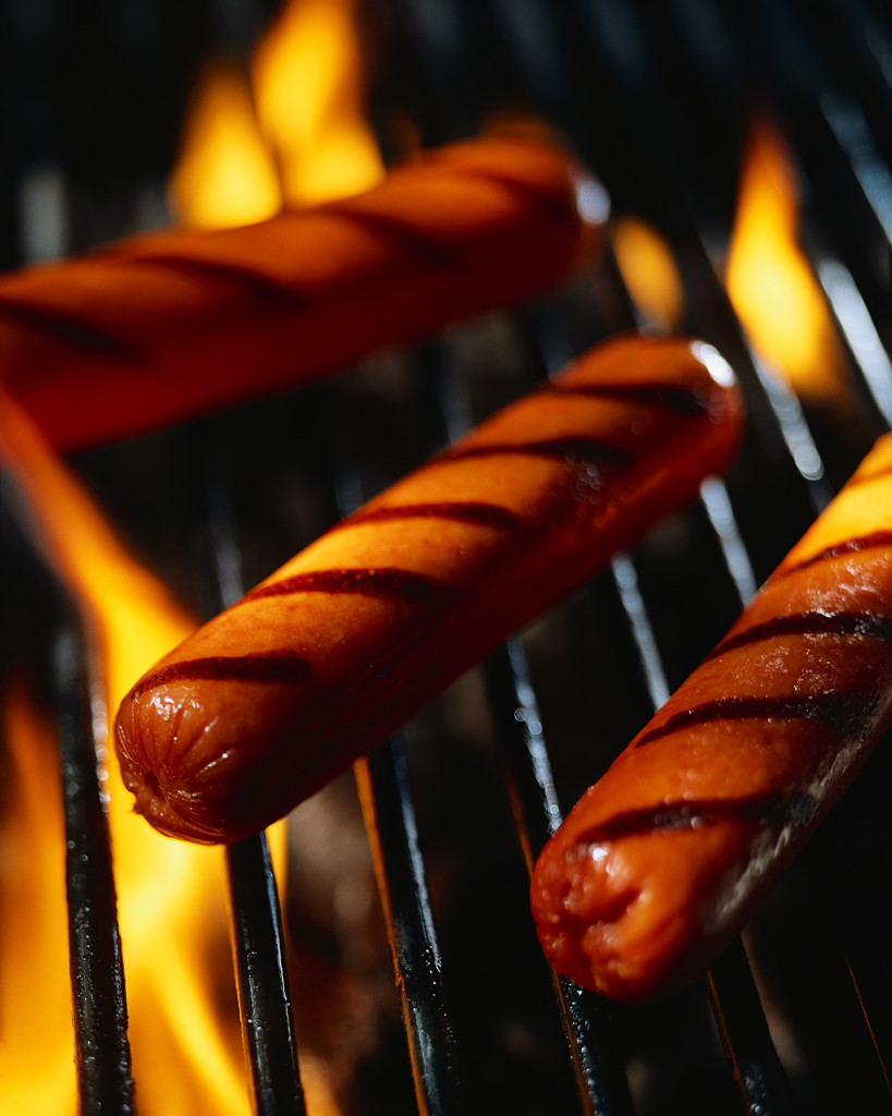 hot dogs grilled