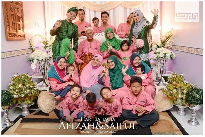 Selamat Pengantin Baru Auntie Zaza dan Reza
