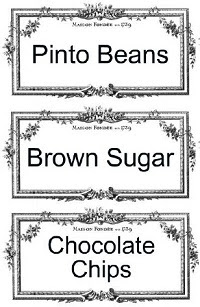Image: Free Printable Pantry/Storage Labels from StrangersandPilgrimsonEarth.com