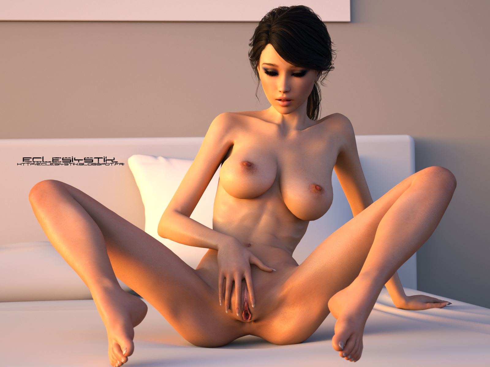 Create a 3d nude girl exposed pic