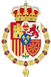 Escudo de Armas de S.M.C. Don Carlos Javier de Borbón, Rey de las Españas