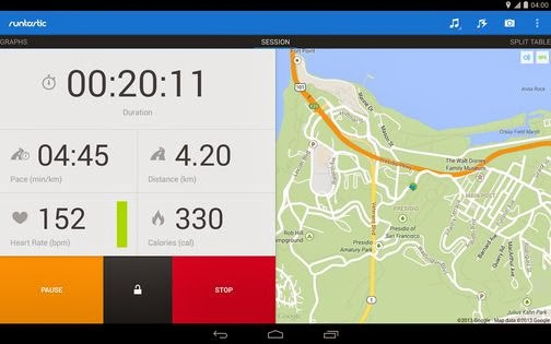 Runtastic Pro, Android Apps