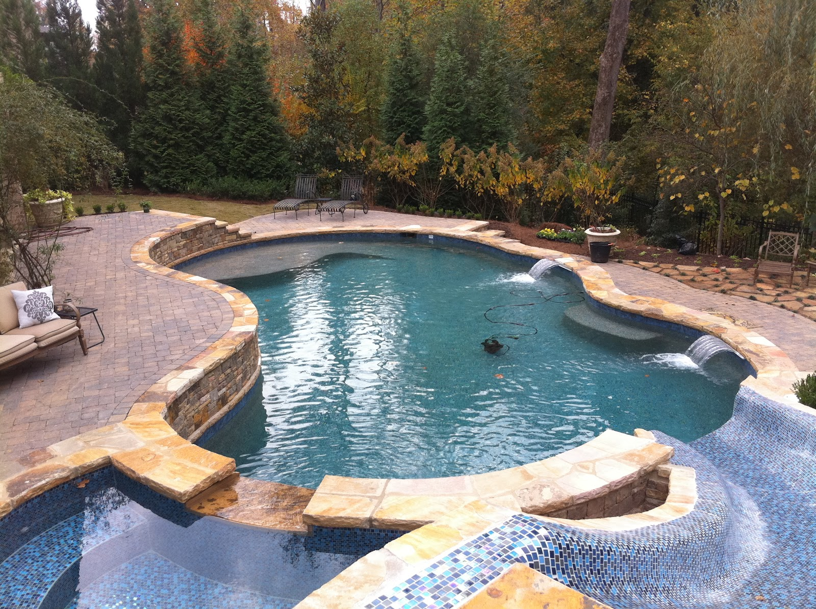 backyard oasis pools free form pool st marlo. Black Bedroom Furniture Sets. Home Design Ideas
