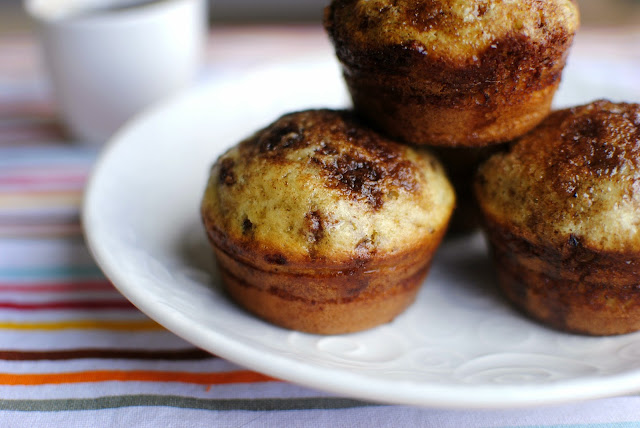 Cinnamon Sugar Swirled Pancake Muffins l SimplyScratch.com
