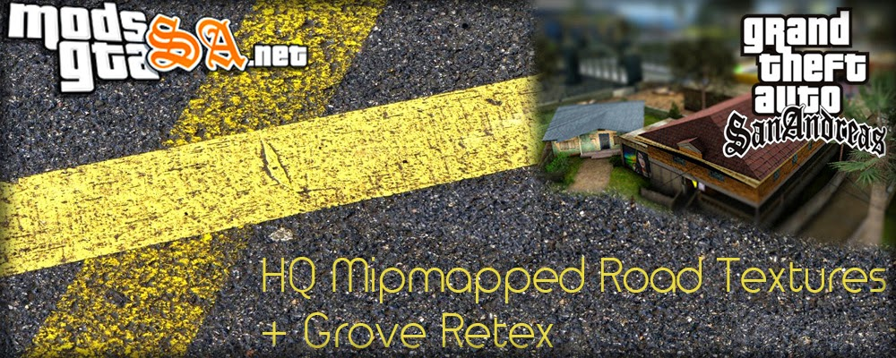 SA - HQ Mipmapped Texturas de Ruas + Grove Street Reestruturada