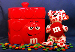 m&amp;m canister &amp; teddy