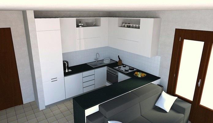 Furniture interior design kitchen horseshoe - Cucine in ferro ...