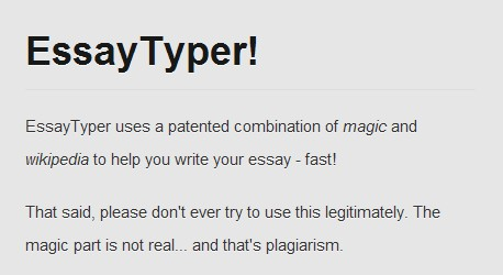 essay typers Essay is a prose composition which expresses the individual experiences and viewpoints about some specific issue or problem when writing an essay it is important to.